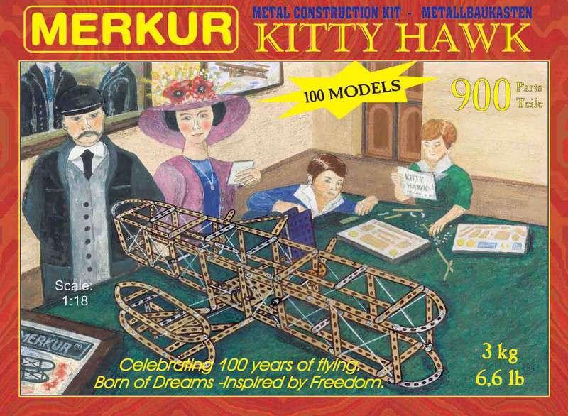 Speciální kovová stavebnice MERKUR Kitty Hawk