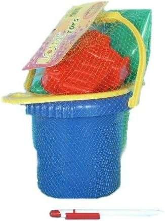 Lori 208 kbelík+sítko+lopatka+2 bábovky