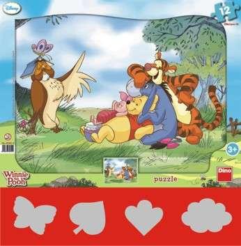 Dino - Puzzle Medvídek Pů 12 dílků