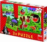 Puzzle 3x55 Krteček a paraplíčko