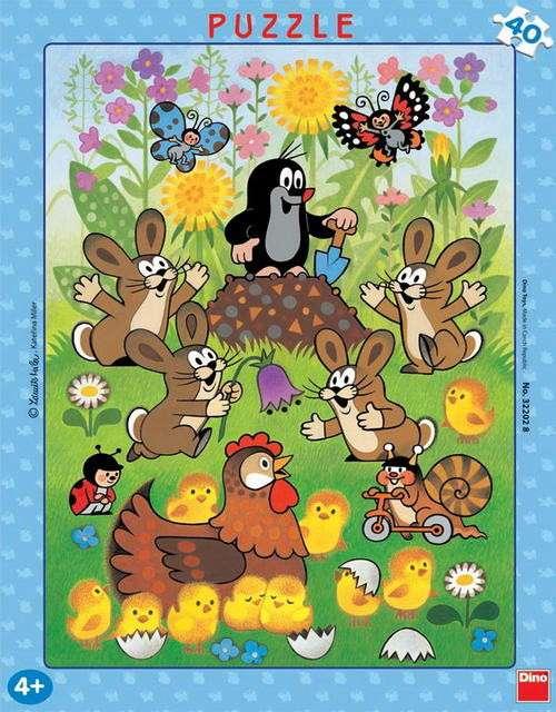 Dino - Puzzle Krtek a Velikonoce 40 dílků