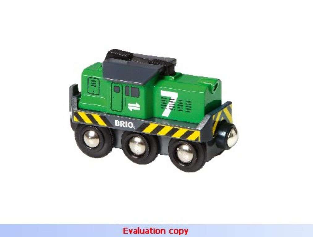 BRIO - Elektrická lokomotiva zelená