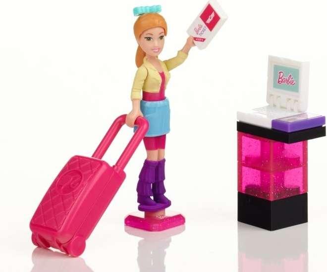 MEGABLOKS Micro Barbie figurka - čas letní dovolené