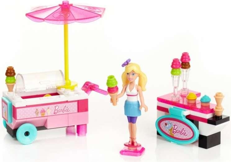 MEGABLOKS Micro Barbie Zmrzlinářský vůz