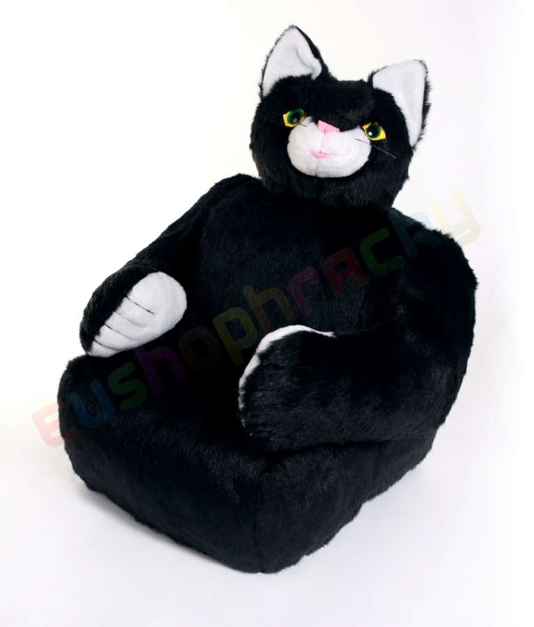 Hamiro Dětská sedačka plyšová - křesílko Kočka 100cm