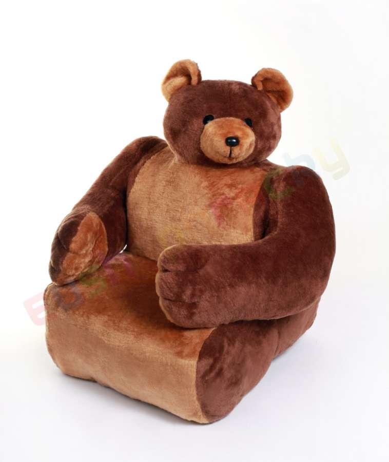 Hamiro Dětská sedačka plyšová - křesílko Medvěd