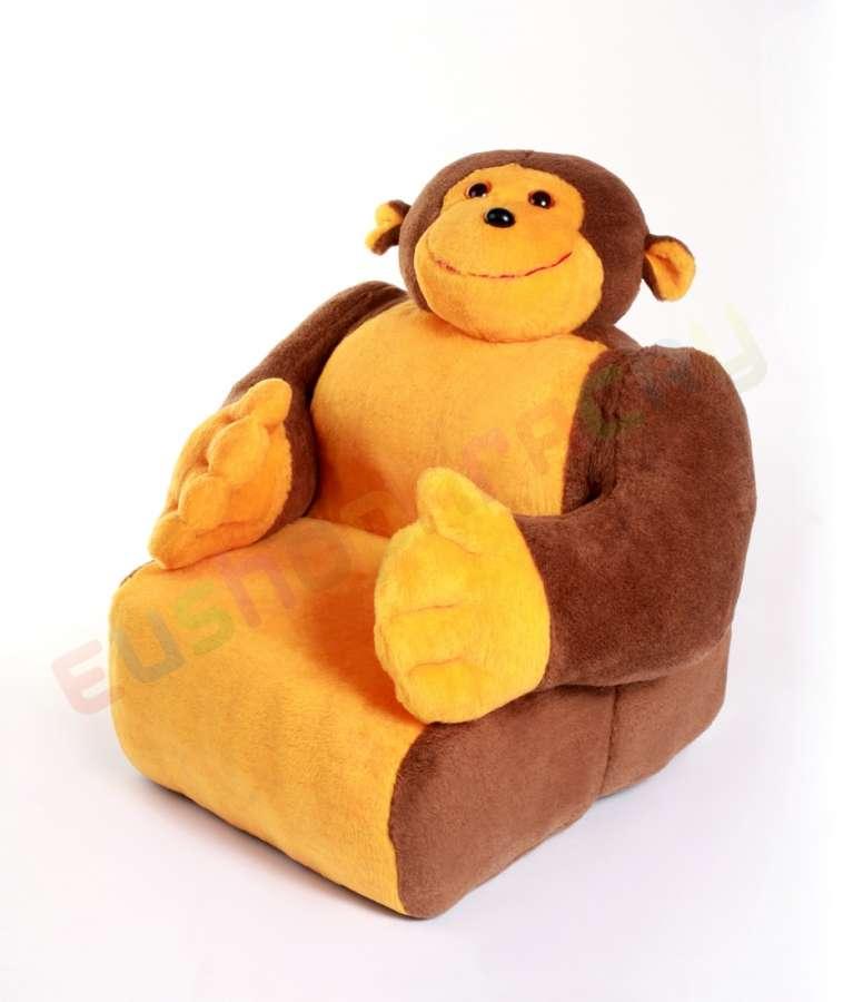 Dětská sedačka plyšová - křesílko Opice 100cm