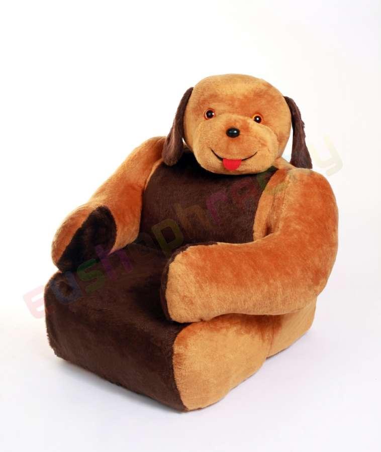 Hamiro Dětská sedačka plyšová - křesílko Pes 100cm