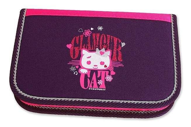 Školní penál Emipo 2-klopy Glamour Cat  P-4801-5.093