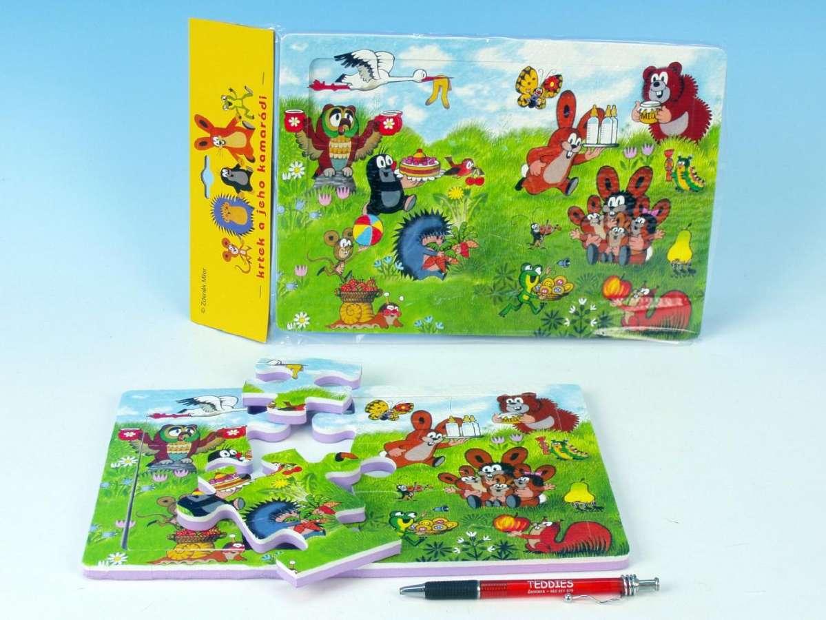 Pěnové puzzle Krteček a jeho kamarádi 12ks