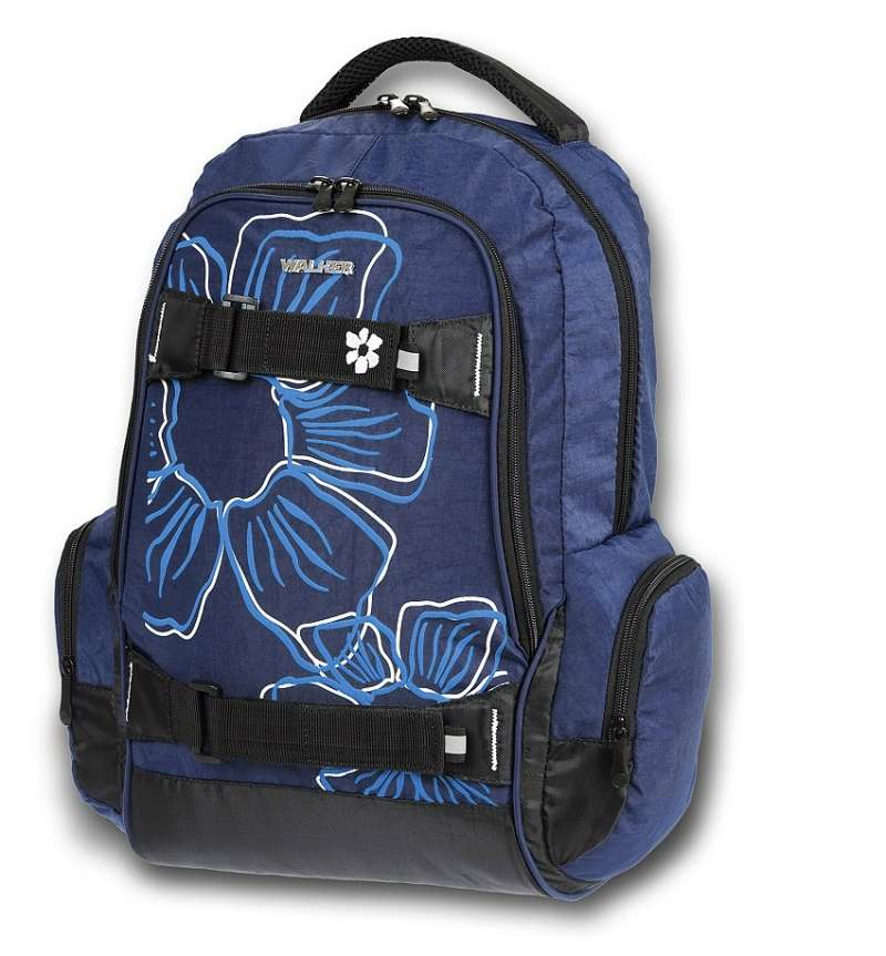 Studentský batoh Walker Flower modrý B-42700-70