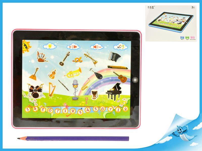 Elektronický tablet hudební nástroje