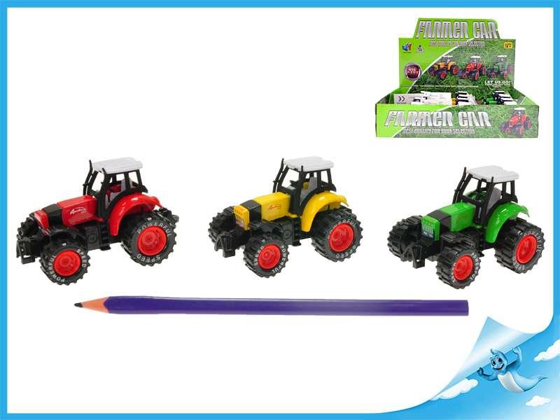 Traktor 8 cm kovový TEDDIES
