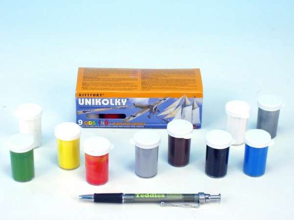 Unikolky modelářské barvy 9+1
