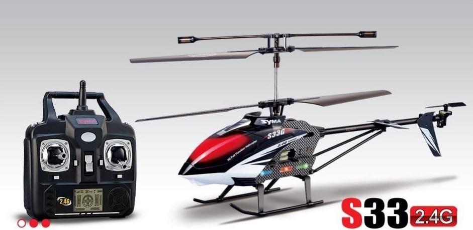 3Ch vrtulník Max 2,4 GHz černý