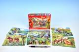 Kostky kubus Husy dřevěné 12 ks