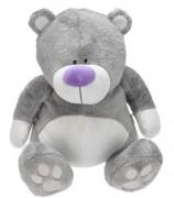 Medvěd plyšový 26 cm sedící šedý 0+