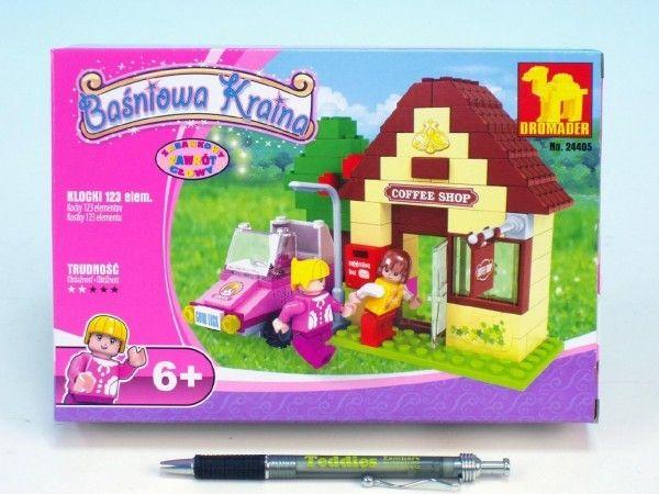 Dromader - Stavebnice pro holky, Pohádková země 123 ks, Coffee Shop