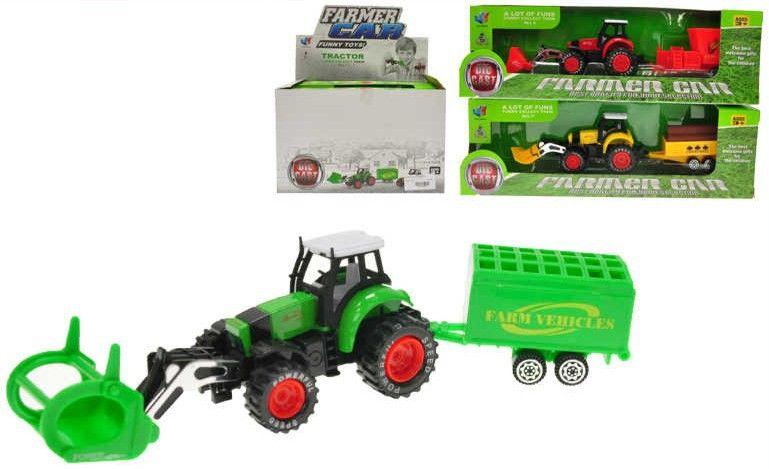 Traktor s vlečkou 20 cm kov