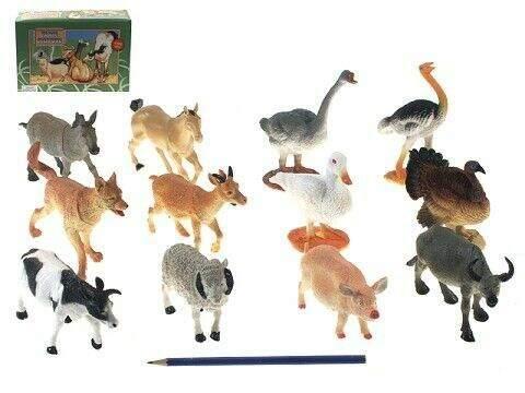 Zvířátka farma 15 cm 12 druhů DBX