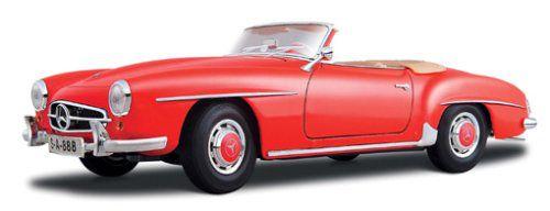 Maisto 1955 Mercedes Benz 190 SL 1:18 červená