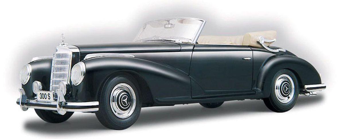 Maisto 1955 Mercedes Benz 300S Cabrio 1:18 černá