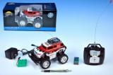 Auto RC Monster Truck 16cm s dobíjecím packem + adaptérem, červené