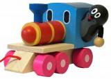 Krteček a mašinka dřevo 12cm