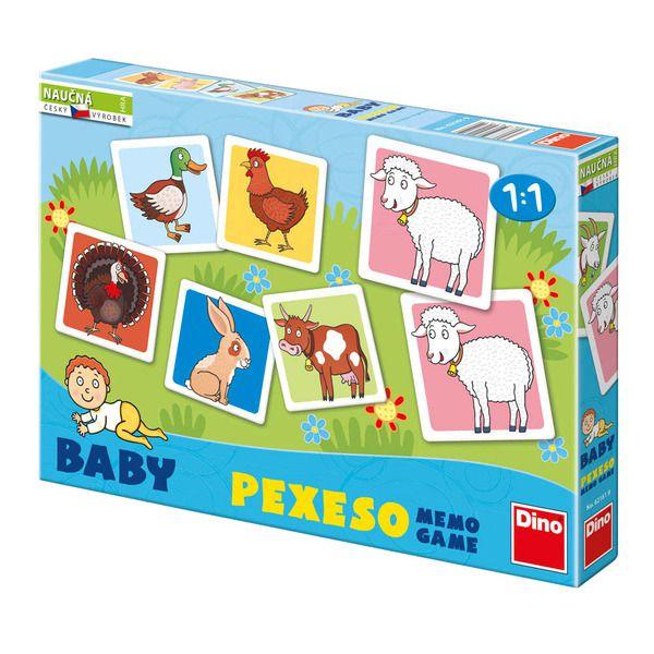 Baby Pexeso: Domácí zvířátka