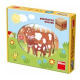 Kostky kubus 12 ks Domácí zvířátka