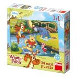 Puzzle maxi Medvídek Pú u vody