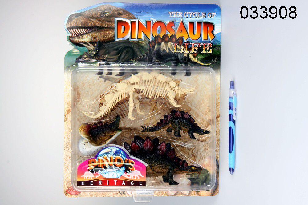 Dino Stegosaurus s kostrou