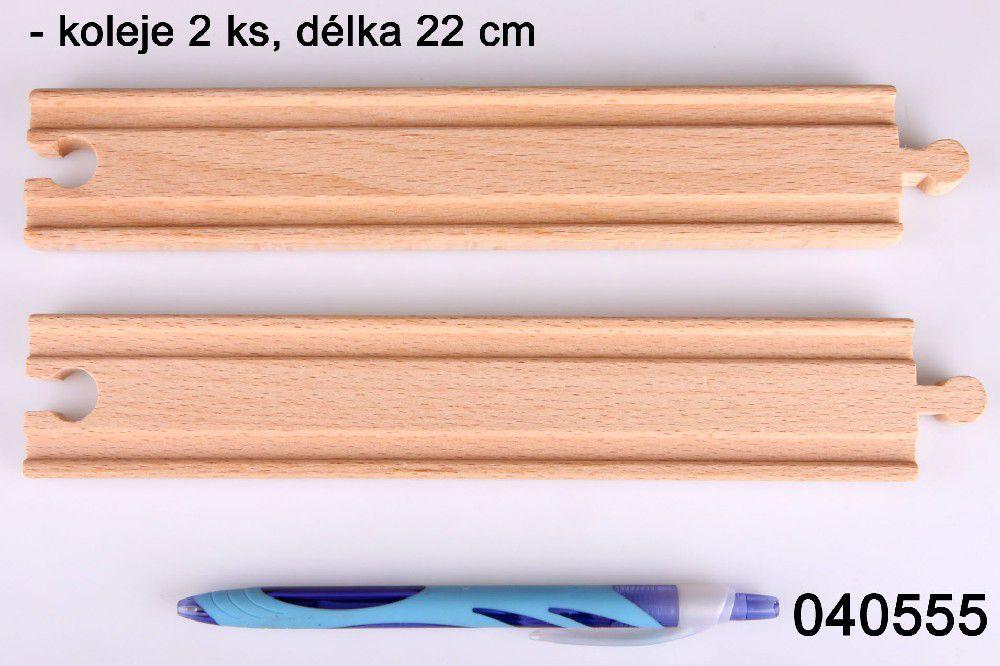 DV Koleje rovné 22cm 2ks