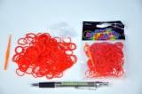 Udělej si náramek - gumičky 250ks červené s doplňky