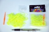 Udělej si náramek - gumičky 250ks žluté s doplňky