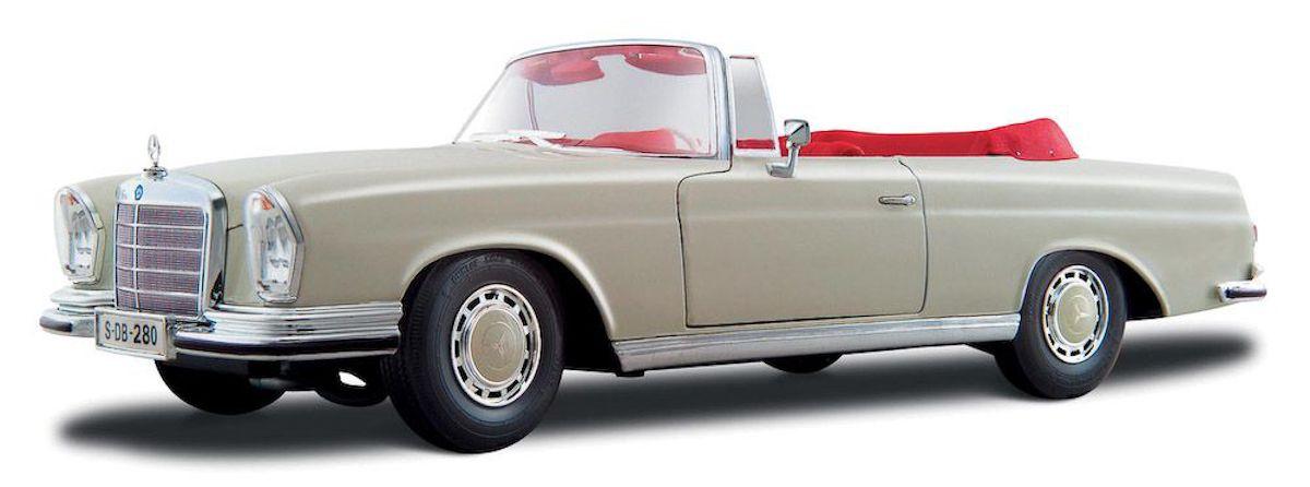 Maisto 1967 Mercedes Benz 280SE Cabrio 1:18 bílá