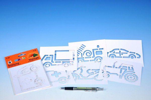 Šablony na malování dopravní prostředky 6ks