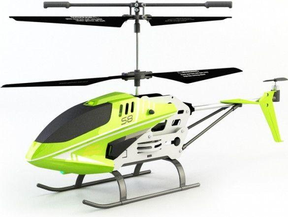 SYMA S8 interiérový vrtulník na vysílačku zelený