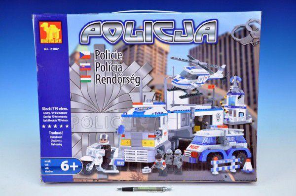 Dromader - Policie Auto+Vrtulník+Stanice 779 ks