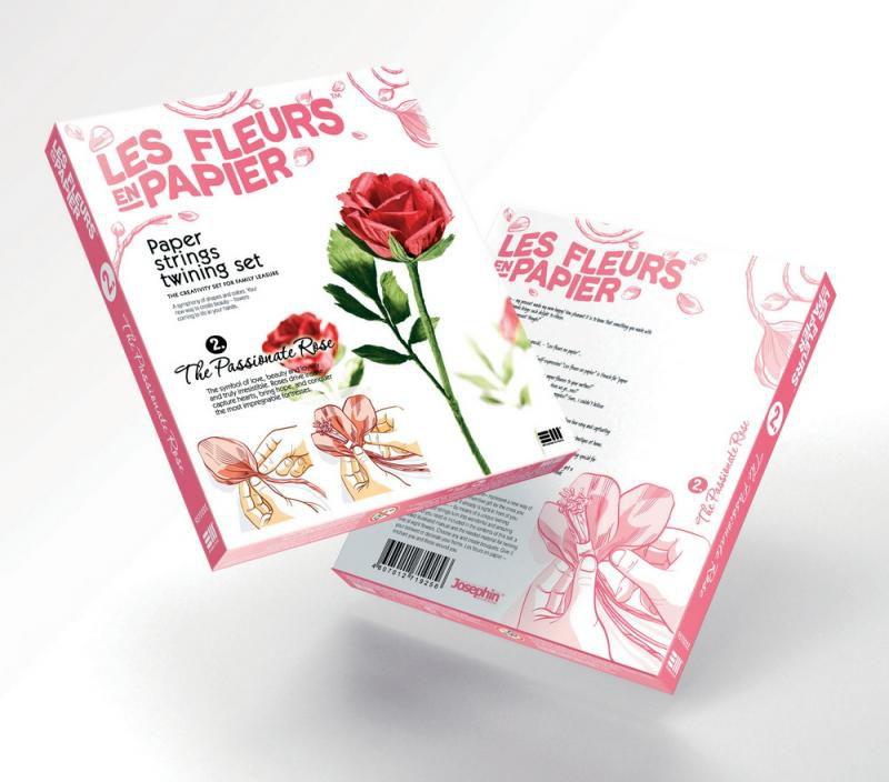 Papírové květiny červené Růže