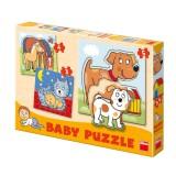 Puzzle Baby zvířátka 18x18cm 12ks