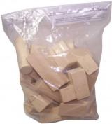 Kostky dřevěné natural 40ks v sáčku