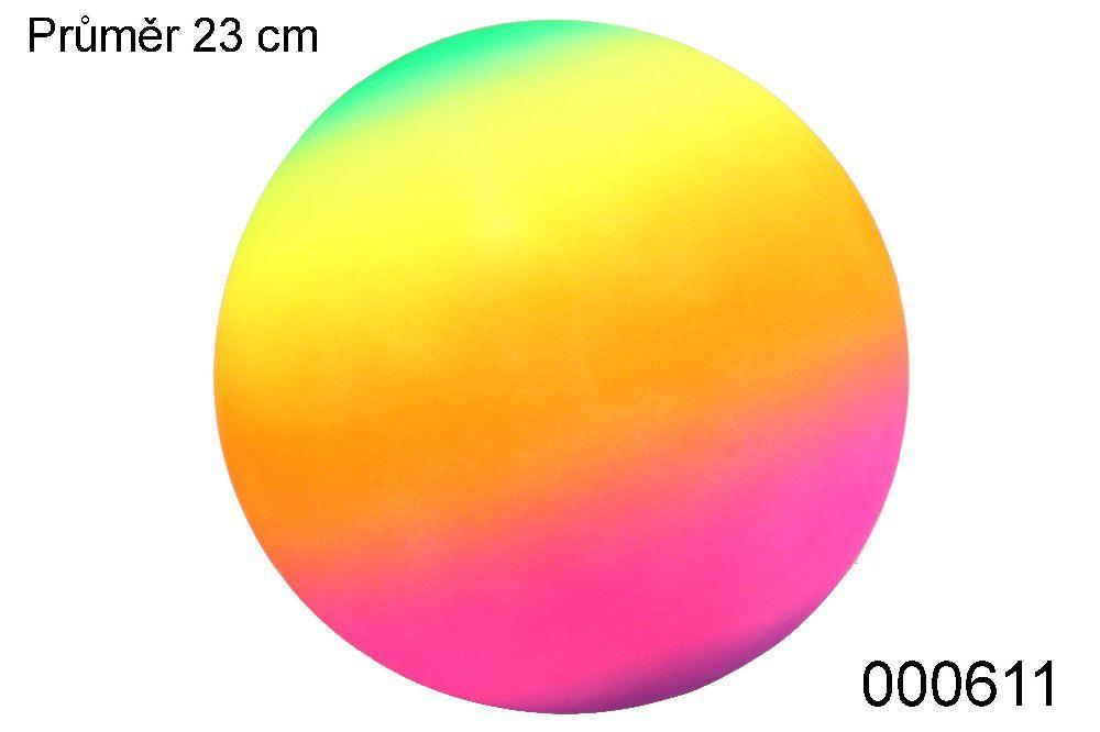 Míč STAR 23cm Duha Fluores