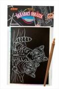Škrábací obrázek hologram koťata
