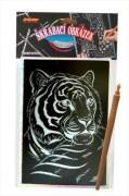 Škrábací obrázek hologram tygr