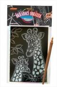 Škrábací obrázek hologram žirafa