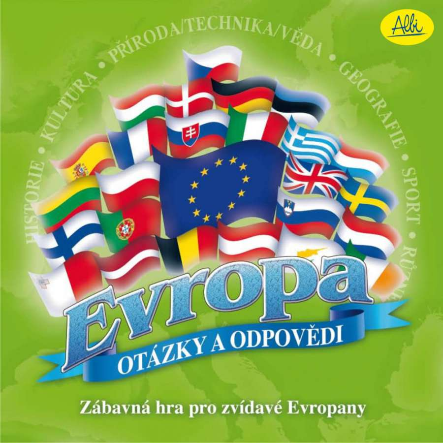 Albi Evropa otázky a odpovědi - zábavná hra