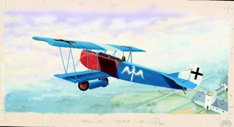 modelůy Směr - letadlo Fokker D-VII