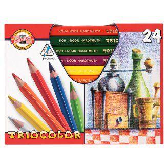 KOH-I-NOOR Triocolor trojhranné pastelky 24 ks