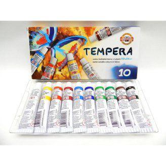 Barvy temperové KOH-I-NOOR 162548,16ml sada 10 barev